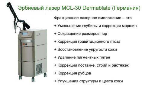 эрбиевом лазере MCL-30 Dermablate